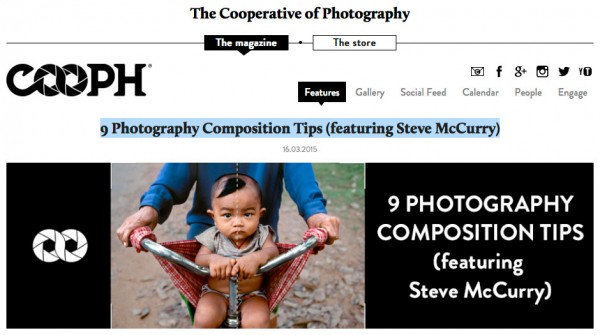 COOPH | 9 Photography Composition Tips (featuring Steve McCurry)
