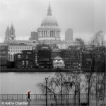 St Paul's in the Rain by Kathy Chantler
