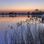 Dusk, Tring Reservoir by Mike Ashcroft