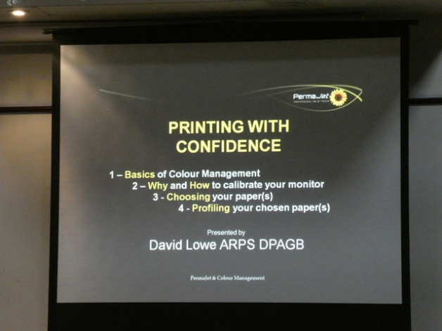 Printing with confidence by David Lowe, Tuesday 25th September 2018