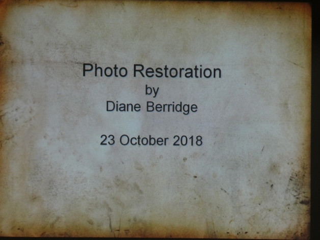 Photograph restoration by Diana Berridge, Tuesday 23rd October 2018