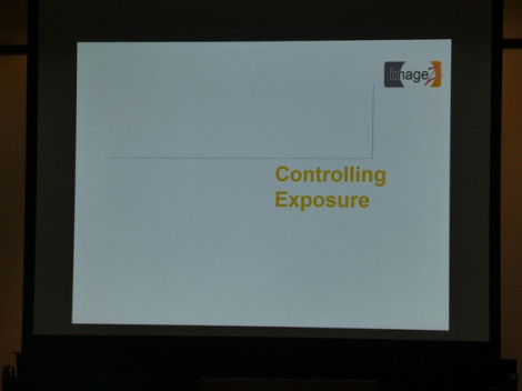 Controlling exposure, Tuesday 24th September 2019