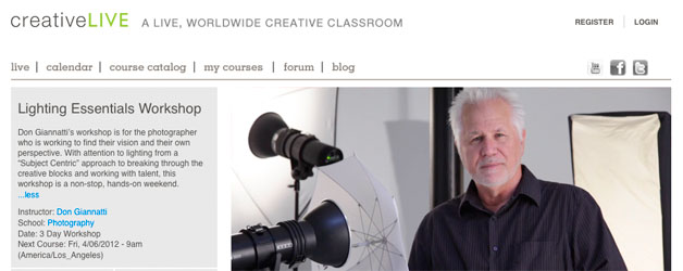 Free online class – Lighting Essentials from creativeLIVE