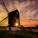 Sunset at Pitstone Windmill by Chenxi Ni