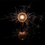 Sparkler Light Through the Bulb © Chenxi Ni