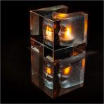 Sculptured Glass Candle Holder Reflection © David Gibbs
