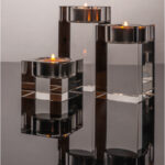 Trio of Crystal Candle Holders © David Gibbs