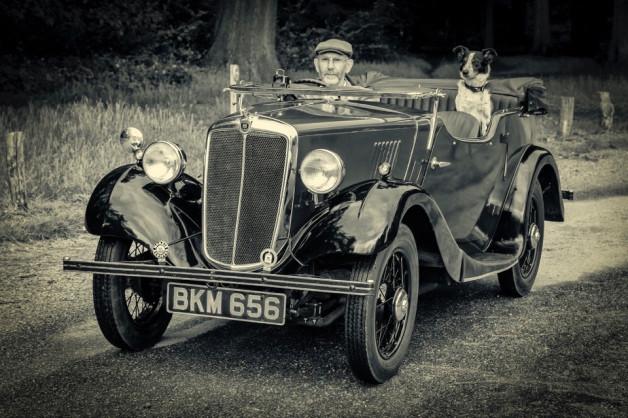 Vintage car at Ashridge by Chris Andrews