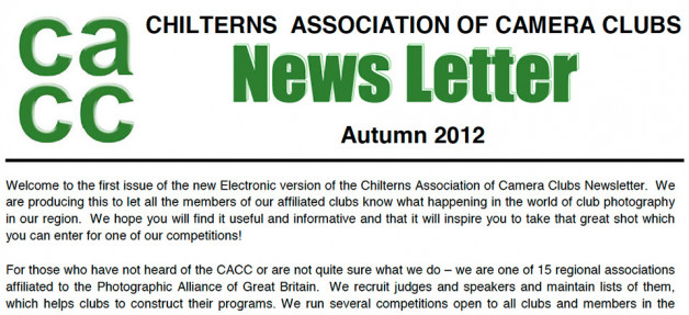 CACC Newsletter Autumn 2012